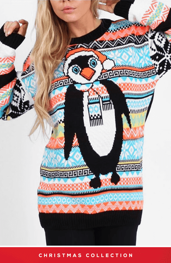MONTY THE PENGUIN FESTIVE CHRISTMAS JUMPER