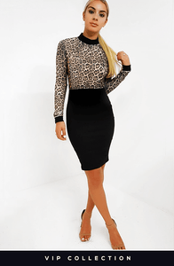 MILLIE LEOPARD PRINT BODYCON DRESS