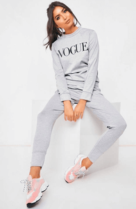 SAMANTHA GREY LUXE VOGUE LOUNGEWEAR SET