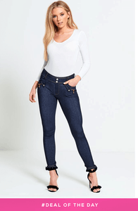 CHELSEA DENIM BLUE SKINNY JEGGINGS