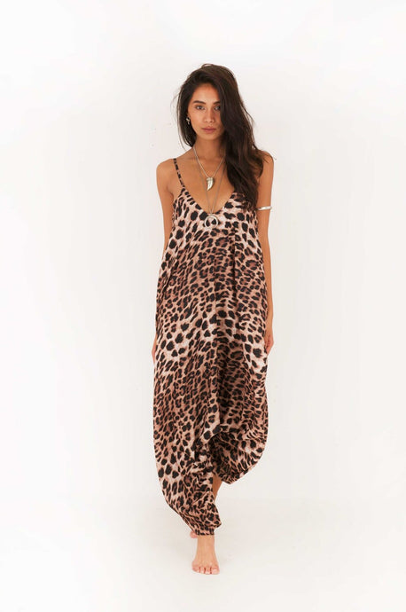 ALEXA ANIMAL PRINT HAREM JUMPSUIT
