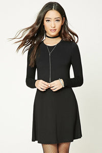McKENZIE BLACK SOFT FEEL SWING DRESS