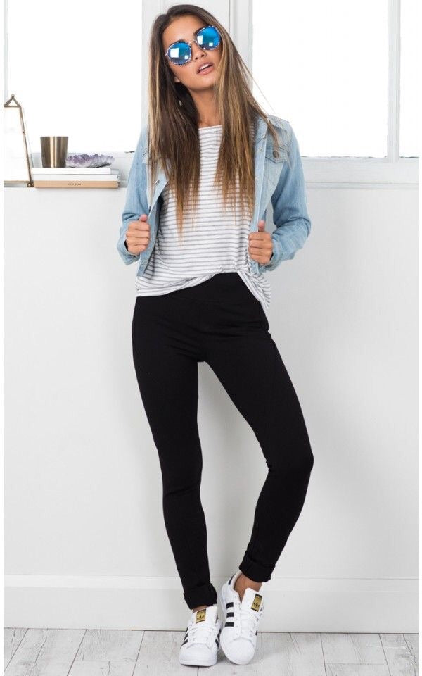 HAYLEY BLACK CLASSIC STYLE SKINNY JEGGINGS