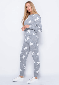 COURTNEY GREY STAR LOUNGEWEAR SET
