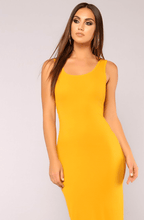 RACHEL MUSTARD RACER BACK MAXI DRESS
