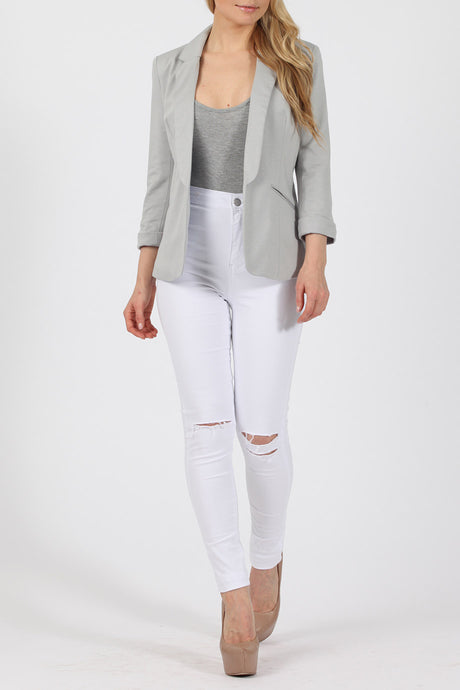 ALLIE DOVE GREY TAILORED  BLAZER