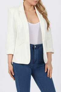 GEORGINA WHITE LINED TAILORED BLAZER