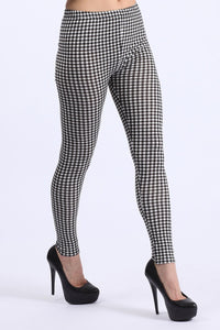 GINGHAM PRINT LEGGINGS