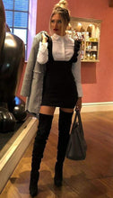 HANNAH BLACK PINAFORE MINI DRESS