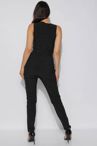 HELENA-ROSE SEQUIN BODICE JUMPSUIT