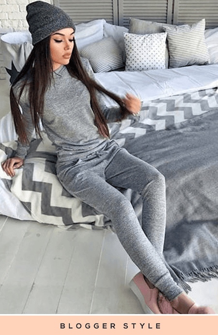 MARLY GREY SWEATSHIRT & JOGGERS CO-ORD SET