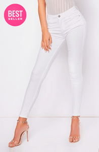 HAYLEY WHITE CLASSIC STYLE SKINNY JEGGINGS