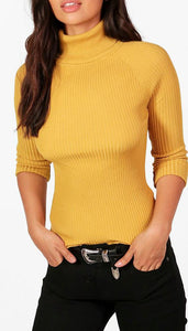 CLAIRE POLO RIBBED LONG SLEEVED TOP