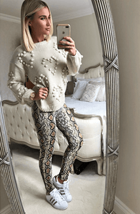 LORRI SOFT FEEL LUXE SNAKE PRINT LEGGINGS