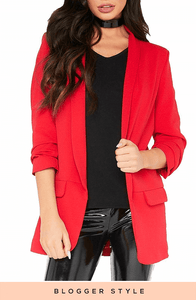 MATILDA RED RUFFLE SLEEVE DUSTER JACKET
