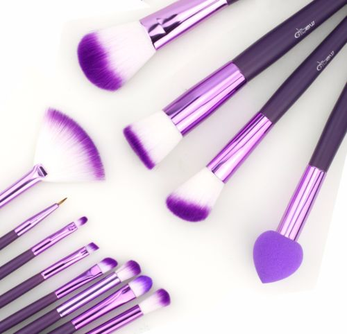 GLOW BEAUTY PURPLE PROFESSIONAL MAKE UP BRUSH SET