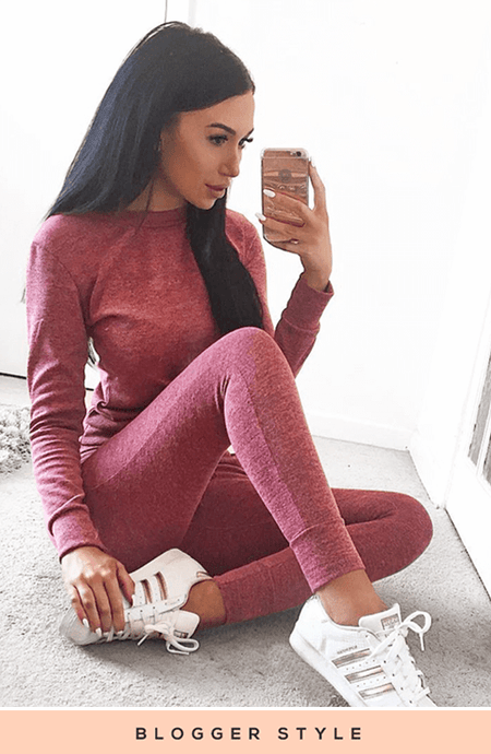 BAILEY BLUSH RED SWEATSHIRT & JOGGERS CO-ORD SET