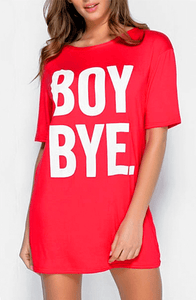 RONI RED BOY BYE  T-SHIRT