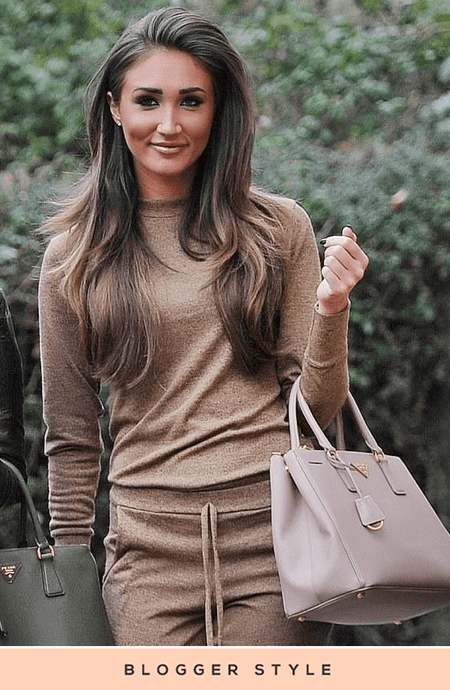 MEGAN SOFT CAMEL KNITTED SWEATSHIRT & JOGGERS CO-ORD SET