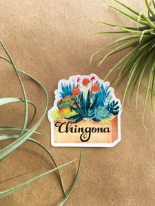 Chingona Box Sticker