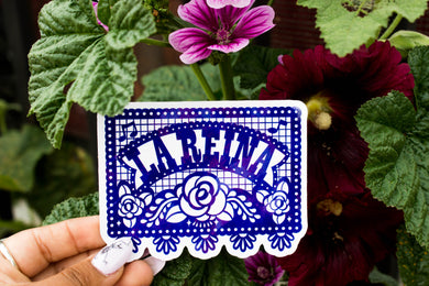 La Reiña Papel Picado Sticker