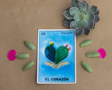 El Corazon Loteria Sticker