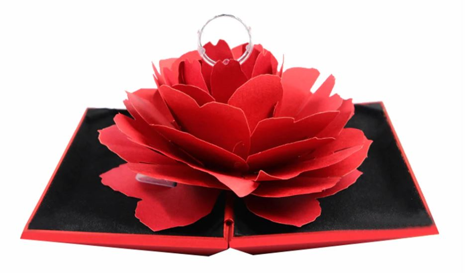 Rotating red rose Jewelry Case - Imported Product