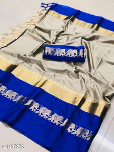 Printed Cotton Silk SAREES 🔥 Hot Seller ⭐ Rated 4.9/5 Stars
