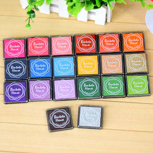 20 Pieces Colors DIY Scrapbooking Vintage Crafts Inkpad Stamp