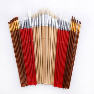 38 Pcs Paint Brushes Set With Canvas Bag