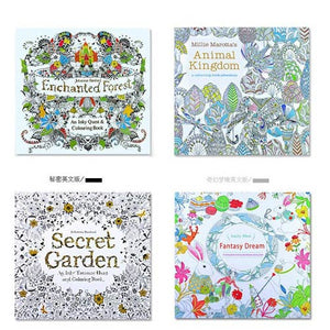 4 Pcs Coloring Book Set