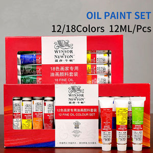 Professional 12/18 Colors Oil Paints Set