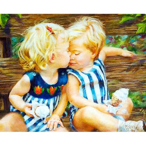 Friends Forever DIY Oil Painting By Numbers Kit