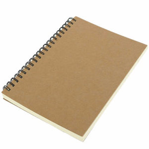 Kraft Paper Sketch Spiral Coil Notebook