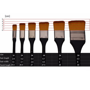 Nylon Flat Head Scrubbing Painting Brush