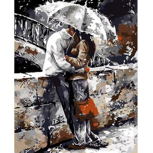 Romance in the Rain DIY Painting By Numbers Kit