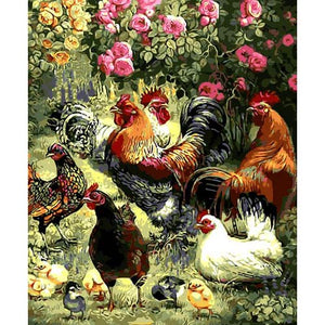 Roosters & Hens Painting By Numbers