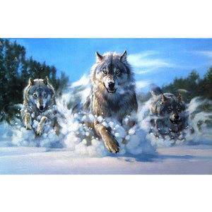 Snow Wolves- 5D DIY Diamond Painting