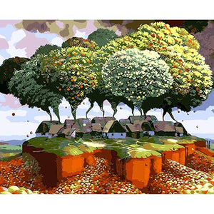 Big Tree House DIY Painting By Numbers