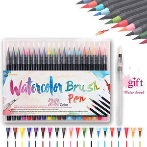 Watercolor Brush Pen Set (20 Colors)