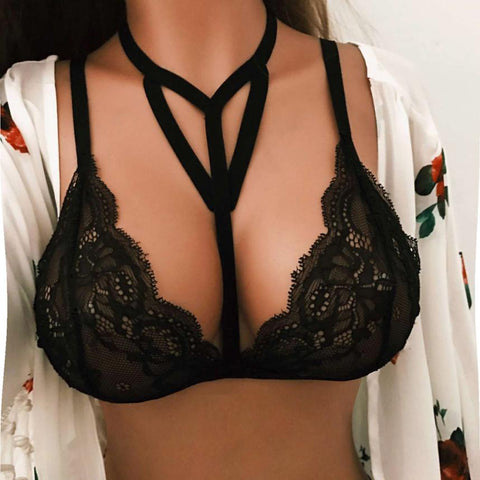'Cant Get Over Me' Lace Bandage Bra