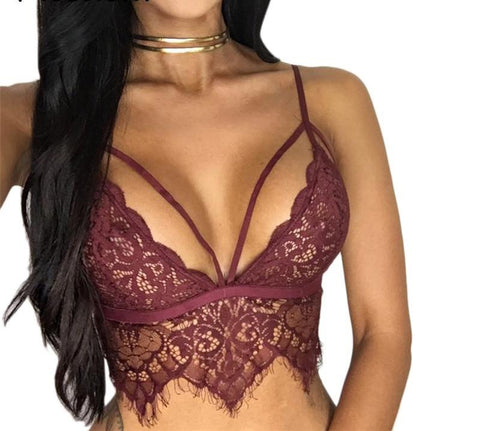'Cute But Dangerous' Sexy Lace Bralette Crop Top