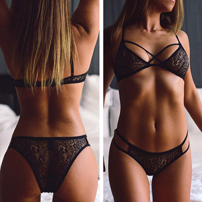 'Tease Him' Linger Lace Bra Set