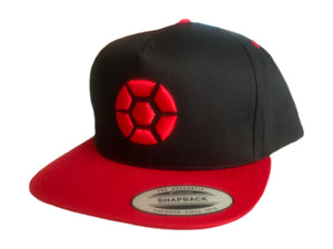 """CARDINAL"" Black w/Red Snap Back Hat 