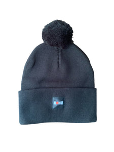 """THE POM POM"" PREMIUM BEANIE BLACK 