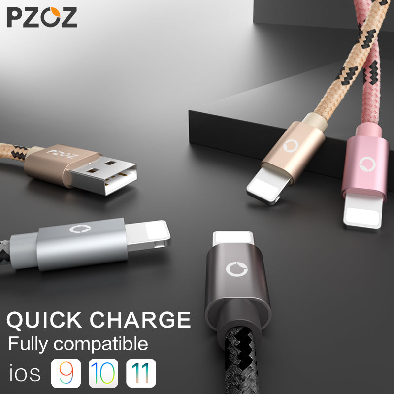 PZOZ Quick Charge iPhone Cables