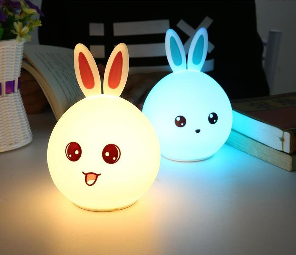 Happy Bunny Squishy Touch Sensor Night Lamp