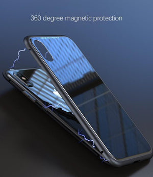 Magnetic Toughened Glass Case for iPhone 6/7/8/X