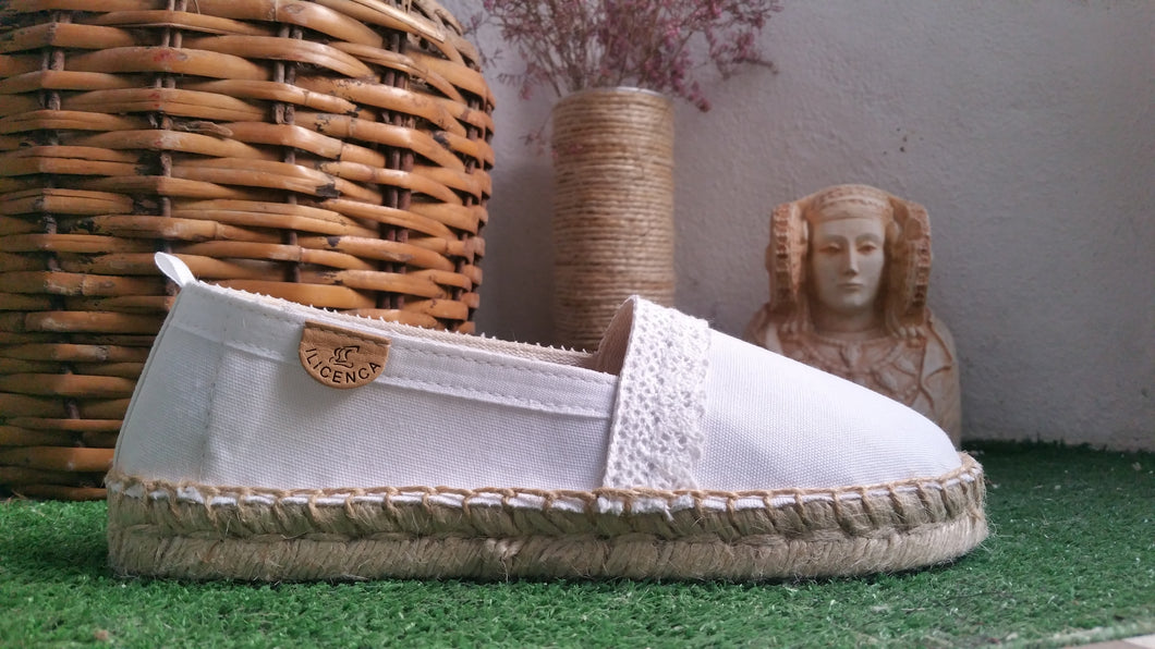 Alpargatas | Espadrilles | Recover blue . Wedges shoes