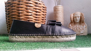 Alpargatas | Espadrilles | black leather